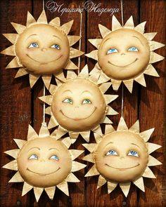 Купить Солнышко моё! Улыбчивая Ароматизированная Кофейная Игрушка - коричневый, улыбка, солнышко, лучики, доброта