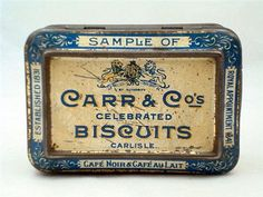 Old Shop Stuff | Old-Sample-Biscuit-Tin---Carr-and-Cos-Celebrated-Biscuits for sale (10941)