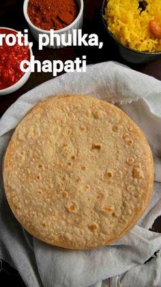 Soft Chapati Recipe, Chapati Recipes, Roti Recipe Easy, Spicy Recipes, Cooking Recipes, Vegetarian Recipes, Indian Dessert Recipes, Galette, Unique Recipes