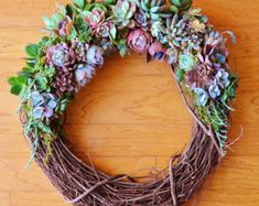 Mother's Day 6 Succulent Wreath Fairyblooms