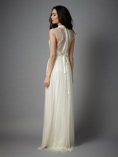 Catherine Deane's Laverne wedding dress. How fab is the lace back <3