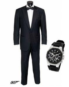 """Look James Bond 007 Casino Royale """" Con licencia para gustar"""" http://www.tutunca.es/reloj-new-race-conografo-gel-negro"""