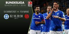 SV DARMSTADT vs FSV MAINZ colliding in Bundesliga season 2015/2016. Catch all the action on www.betboro.com