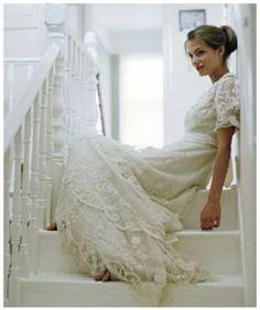Een prachtige vintage trouwjurk.