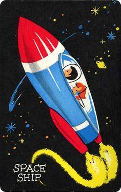ORBIT play A way CARDS: space ship by Ribambelles & Ribambins, via Flickr
