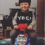 Toddler's face-swap with Thomas the Tank Engine both 'creepy' and 'cute' - http://cringeynews.com/offbeat-news/toddlers-face-swap-with-thomas-the-tank-engine-both-creepy-and-cute/