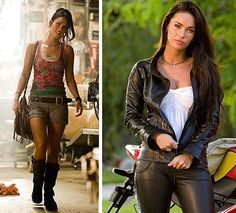 Mikaela Banes (Transformers: Revenge of the Fallen) (c) 2009 Hasbro & Paramount Pictures Transformers Movie Cast, Megan Fox Transformers, Revenge Of The Fallen, It Movie Cast, Paramount Pictures, Boy Blue, Leather Pants, Hair Beauty, Beautiful Women