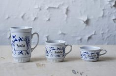 Barbora is working with a shape and decor of the cup known as BABIČKA (Granny). It is originally produced by Český porcelán a.s. She works with its deformation of proportion and decoration. As Barbora says, the cups represent grannies – short, thin, tall or plump ones. Text: Helena Patelisová