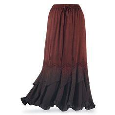 $60.00   -   Ombré Maxi Skirt - Women's Clothing & Symbolic Jewelry – Sexy, Fantasy, Romantic Fashions