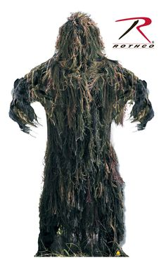 Lightweight All Purpose 2 Piece Ghillie Suit - Hunting, Paintball, Military Camo