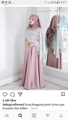 Hijab Dresses - Another! Dress Brokat Muslim, Kebaya Muslim, Muslim Dress, Batik Fashion, Abaya Fashion, Fashion Dresses, Kebaya Dress, Sari Dress, Kebaya Hijab