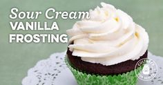 Sour Cream Vanilla Frosting Recipe - Cultures for Health