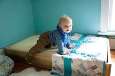 What a great bed, especially in a co-sleeping room for older kiddos.