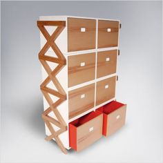 ducduc Campaign Stacking Dresser-pinned by http://www.auntbucky.com  #ducDuc #home #kids #nursery #auntbucky
