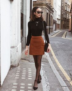 35 Simple and Casual Mini Skirt Ideas You Can Try - Fashion - Herbst & Winter - . - Long skirt outfits for fall - Winter Fashion Outfits, Fall Winter Outfits, Autumn Fashion, Casual Outfits, Winter Outfits With Skirts, Summer Dresses, Mini Skirt Outfit Winter, Long Skirt Outfits, Winter Rock
