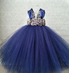 Navy Flower Girl Dress by GigglesandWiggles1 on Etsy