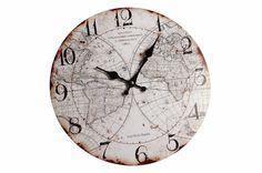Relógio de Parede Navegações - 34 x 34 cm                                                                                                                                                      Mais