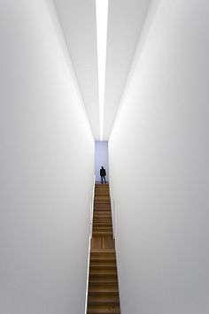 ::ARCHITECTURE:: LIGHTING :: DETAILS :: INTERIORS :: STAIRS Casa das Mudas in Portugal by Paulo David Architects.  Love the light well