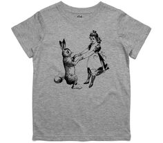 El Cheapo Alice and the Rabbit Toddler Grey Marle T-Shirt
