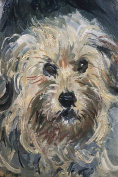 Detail of Yorkshire Terrier from Eugenie Graff (Madame Paul) by Claude Monet from Fogg Art Museum, Cambridge, Massachusetts, USA Dog Canvas Painting, Dog Paintings, Canvas Art, Claude Monet, Art For Sale Online, Pictures To Draw, Drawing Pictures, Art Images, Find Art