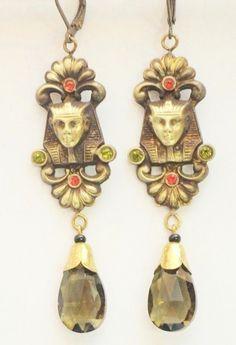 Vintage 1920s/1930s Egyptian Revival Earrings by NfrKaVintage