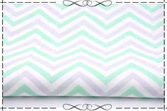 Stoff grafische Muster - Baumwolle, Zickzack klein, minze-grau, Chevron - ein Designerstück von imagine-shop bei DaWanda