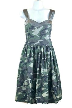 Camouflage Dress Camo Womens Size Medium ? Handmade Wedding Bridal Sweetheart in Clothing, Shoes & Accessories, Women's Clothing, Dresses | eBay