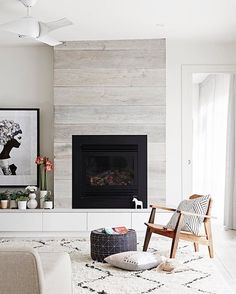 3 Alert Tips AND Tricks: Simple Fireplace Paint fireplace kitchen how to build.Mobile Home Fireplace Makeover rock fireplace exterior. Home Fireplace, Fireplace Remodel, Fireplace Design, Fireplace Ideas, Fireplace Modern, Shiplap Fireplace, Simple Fireplace, Fireplace Windows, Off Center Fireplace