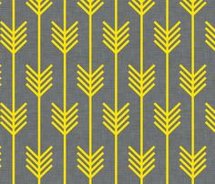 arrows_gray_and_yellow fabric by holli_zollinger on Spoonflower - custom fabrichttp://www.spoonflower.com/wallpaper/1659088