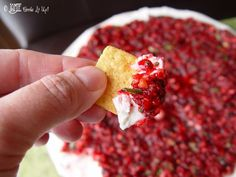 Cranberry cream cheese cracker dip recipe...best appetizer EVER! From FunCheapOrFree.com