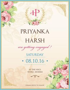 Diamond Ring Theme Engagement Invitation Card With Wordings Check It
