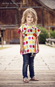 tutorial for a really cute tunic top...will make spring shirts for the girlies!!