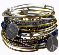 Alex and Ani bracelets.  sold at Paisley Pineapple. love these! make a great gift.
