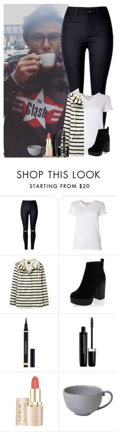 """""""Getting coffee with Ashton"""" by dj1direction ❤ liked on Polyvore featuring WithChic, T By Alexander Wang, Joules, Yves Saint Laurent, Marc Jacobs and Juliska"""