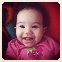 Inter-racial baby Italian, Greek and Black. My beautiful Athena Grace