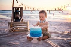 Beach cake smash - marco island naples florida photographer - London Pyle Photography