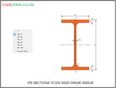 CAD Format:      AutoCAD 2013  Block Type:         1 2D Dynamic (6 Lookup Tables)  Units:                    mm  Description:  A dynamic block made using the EN 10025 Grade S355 Tables.  The block is parametric and uses lookup tables to produce 6 different blocks. The block can be edited to user dimensions with the standard AutoCAD Properties editor  Sizes:  100x50x4.1, 120x64x4.4, 140x73x47, 160x82x5.0, 180x91x5.3, 200x100x5.6 Steel Properties, Cad Blocks, Autocad, Type 1, Editor, Beams, 2d, Tables, The Unit