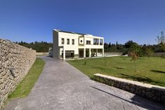Contemporary villa with pool, centrally located. Corfu Island, Corfu Greece, Villas, Contemporary, Mansions, House Styles, Home Decor, Decoration Home, Manor Houses