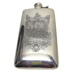 """Charming """"We're Both Scotch"""" Scotties Flask by Kerr, 1920's"""