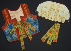 Slovak Folk Costume Embroidered Bonnet Cap Blouse Apron Skirt Vest Piestany Kroj | eBay