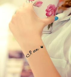 4 Pcs English Letter & Crown Temporary Tattoo Stickers$5.99