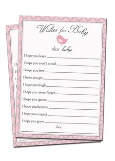 Advice Card Printable Baby Well Wishes Card by digibuddhaPaperie, $8.00