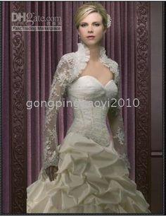 Wholesale Custom Lace Bridal Wedding Bolero Jacket Sold By Gongpingjiaoyi