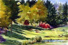 oregongolfclub. - Tracy Moad Watercolors.