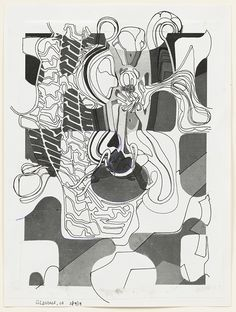 Michael Williams Untitled Puzzle Drawing, pen and collage on paper x cm 23 November, The 5th Of November, Carroll Dunham, Fiona Banner, Vija Celmins, Puzzle Drawing, Raymond Pettibon, Michael Williams, Ellsworth Kelly