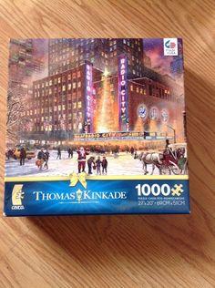 CEACO THOMAS KINKADE 2014 CHRISTMAS JIGSAW PUZZLE RADIO CITY MUSIC HALL 1000 PCS…