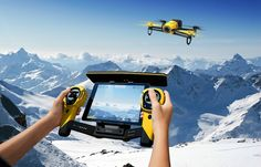 Parrot BeBop Drone HD Fisheye Camera + Skycontroller Yellow
