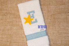 Embroidered Starfish Monogram Hand Towel by KeepsakesByHeather on Etsy