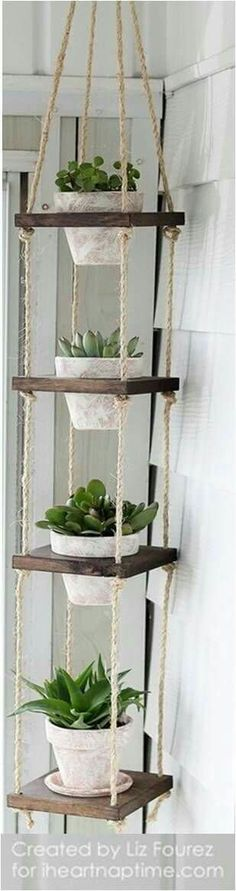You could so DIY this plant stand