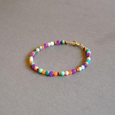 """Bracelet fantaisie pierres fines multicolores : Modèle """"Ireyda"""" : Bracelet par kanakeis"""